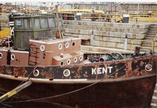 MT Kent in dry dock 1987